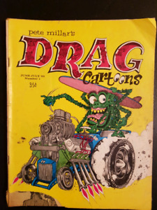 Very Rare Drag Cartoons Magazine Number 1 from 1963