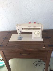 Singer Sewing Machine & Sewing Table