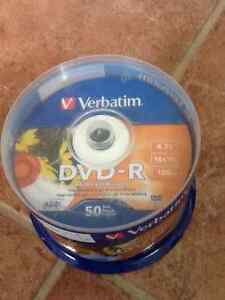 Package of 50 Verbatim DVD-R white inkjet printable Cornwall Ontario image 1
