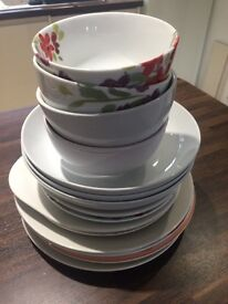 Selection of crockery - plates and bowls