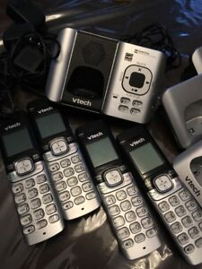 vTech Cordless Phones 4 sets with answer machine