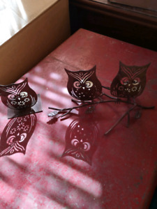 Candle owl set