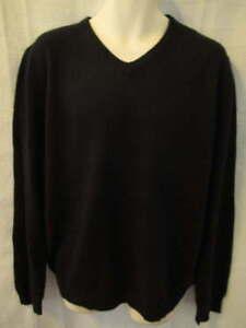 Article 365 100% Cashmere Black V-neck sweater Men's L