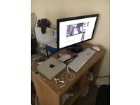 "Mac Mini, BenQ 22"" Monitor and Apple Keyboard and Mouse"