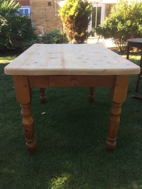 Pine Farmhouse Table Sanded top