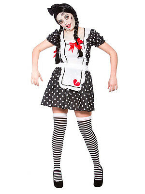 Adult Ladies Broken Baby Raggy Doll Zombie Horror Halloween Fancy Dress Costume
