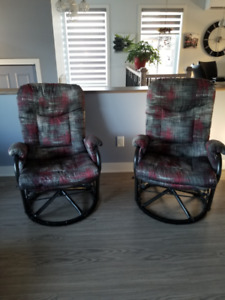 2 chaise bercantes