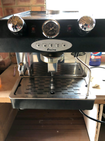 Fracino bambino coffee machine and grinder