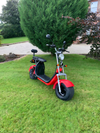 Harley style fat tyres electric scooter Road legal 2000watt motor