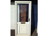 UPVC DOOR WHITE WITH LETTER BOX