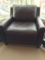 Urban Barn Brown Leather Chair