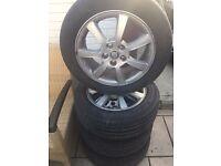 "16"" Genuine Jaguar X-TYPE Alloy Wheels 2055516 Tyres"