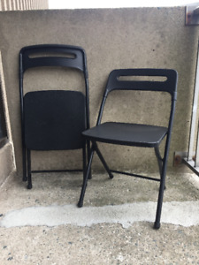 Set of 2 Folding Chairs - $20 OBO