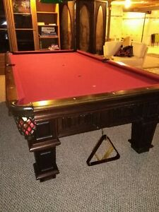 9' x 4.5' Solid Wood Billiard/ Pool Table