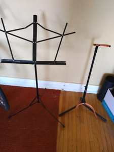 Guitar and music stands