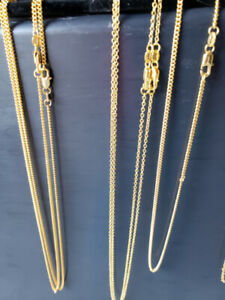 """18k yellow gold filled - 18"""" chains $20 each"""