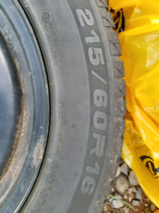 SOLD PPU - Winter Tires and rims 215 60R 16