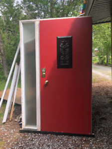 Entrance door with side glass