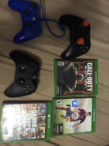 500gb XBOX ONE FOR SALE WITH games and controllers!