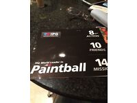 10 IPG paintball tickets + 1000 paintballs