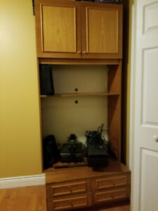 """Solid Wood TV / Wall unit 78 x 36"""" only $30. Need gone asap"""
