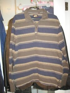 Vans Off The Wall Long Sleeve Polo Pullover Shirt - Size Medium