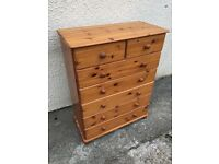 Pine chest of drawers a 7 drawers 2 over 5 can deliver