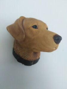 BOSSONS Labrador Dog Chalkware 1960's  collectible art