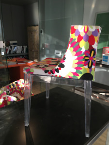 8 Modern Contemporary Floral Accent Chairs  + Dining Table