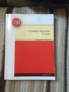 Canadian Securities Course Text