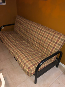 Futon with Mattress Cover, and Frame