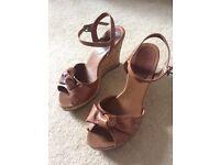 Next tan wedge sandals size 6