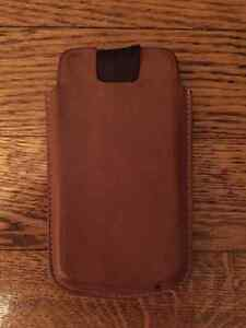 iPhone 4S Leather Brown Case