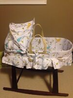 Jolly jumper bassinet and stand 70.00