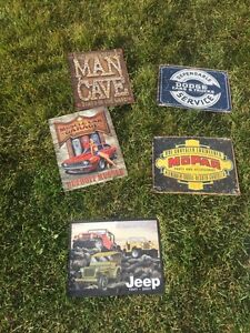 Metal signs brand new condition