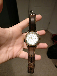 Genuine Fossil Leather Men's Watch $50!!!