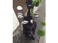 Full set of Golf Clubs, Bag & Trolley