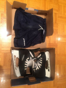 Hockey skates and Mesh Short