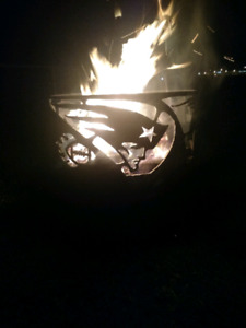 New England Patriots fire pit