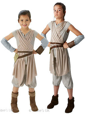 Rey Girls Fancy Dress Deluxe Star Wars The Force Awakens Kids Childrens Costume