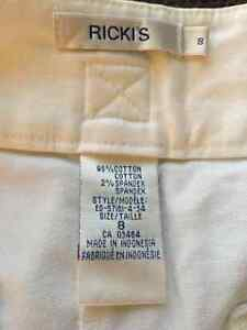 Rickis flare white dress pants size 8 Cambridge Kitchener Area image 2