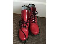 Dr Martens size 8 bright red