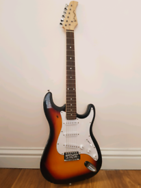 Electric Guitar in Sunburst packaged