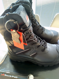 Brand new leather Rockfall safety boots size 11