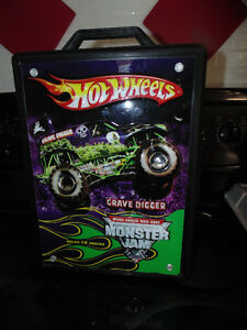 hotwheels monster trucks with case