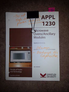 Used 4 Kwantlen Appliance Servicing Textbooks