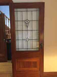 Antique wood and glass pane door - reduced price!