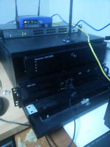 Server with rack