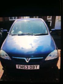 Vauxhall Corsa 1.2 petrol, manual, blue