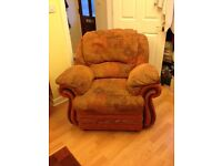 3 seater and 2 arm chairs for collection